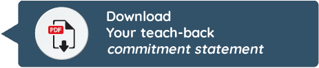 Your teach-back commitment reference